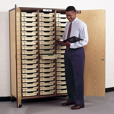 """Fleetwood 72"""" H Storage Cabinet with Optional Trays"""