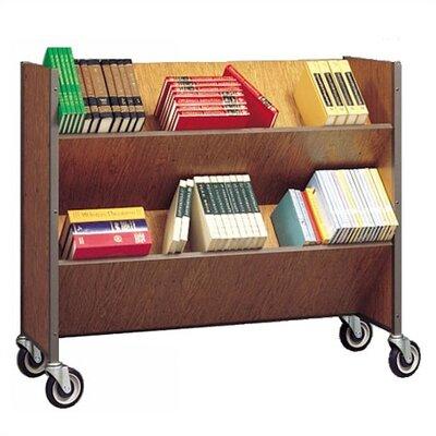 Fleetwood Double-Sided Sloped-Shelf Book Cart