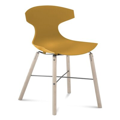 Domitalia Echo Ashwood Dining Chair in White Ashwood/Anthracite matt lacquered