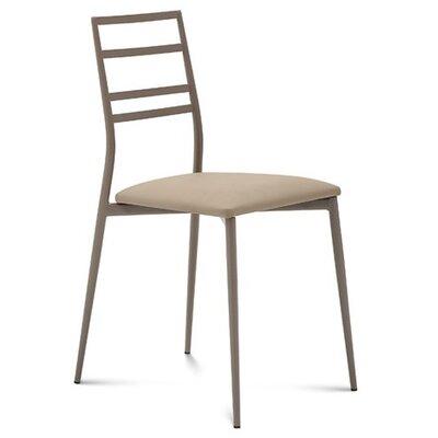 Domitalia Slim Upholstered Dining Chair in grey