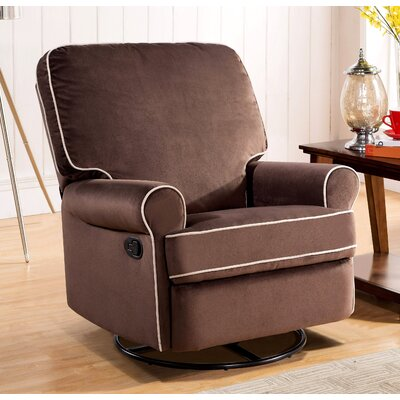 Roquemore Swivel Reclining Glider Upholstery: Coffee