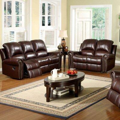 Sedona Reclining Italian Leather Sofa And Loveseat Set In
