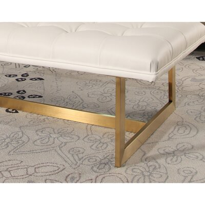 Southgate Tufted Faux Leather Bench