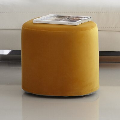 Carmen Accent Stool Color: Yellow