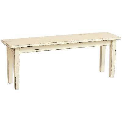 Kissling Wood Bench Color: Off-White