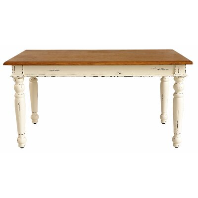 Kissling Dining Table Base Color: Rustic Distressed Linen / Rustic Mango Natural