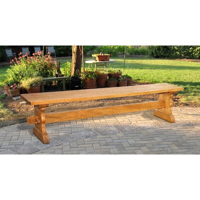 Santa Fe Wood Bench Color: Natural Mango