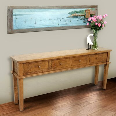Allendale Console Table Color: Rustic Mango Grey Wash