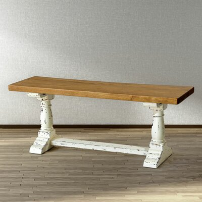 Trestle Bench Color: Natural Mango