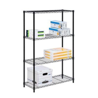 """4 Tier Wire Shelf Finish: Black, Orientation: 54"""" H x 36"""" W x 14"""" D"""