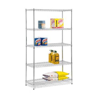 5 Shelf Shelving Unit Finish: Chrome
