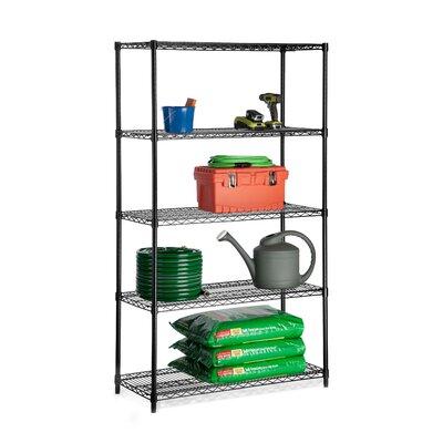 5 Shelf Shelving Unit Finish: Black