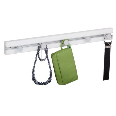 5 Hook Wall Mounted Coat Rack Finish: White