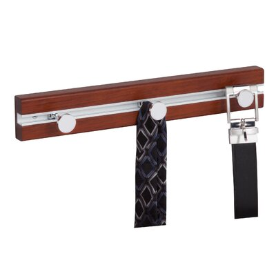 3 Hook Wall Mounted Coat Rack Finish: Cherry