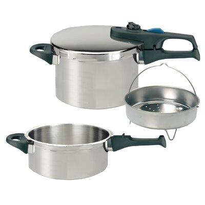 ELO 5 Piece Stainless Steel Pressure Cooker Set