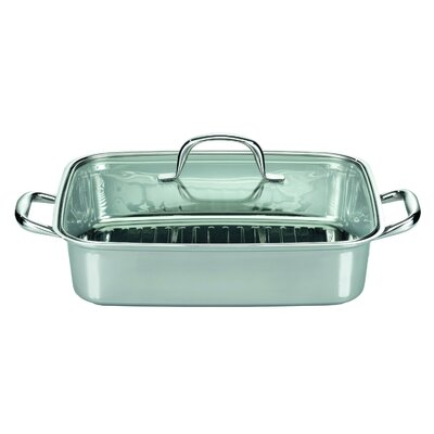 ELO Barbecue 31cm x 25cm Stainless Steel Roaster in Silver with Lid