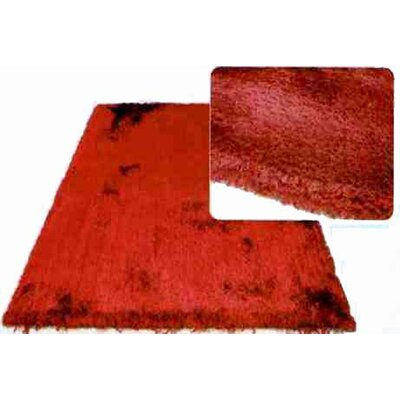 L.A. Rugs Super Shag Red Area Rug