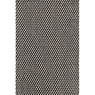Dash and Albert Rugs Two Tone Rope Hand Woven Black Indoor/Outdoor Area Rug