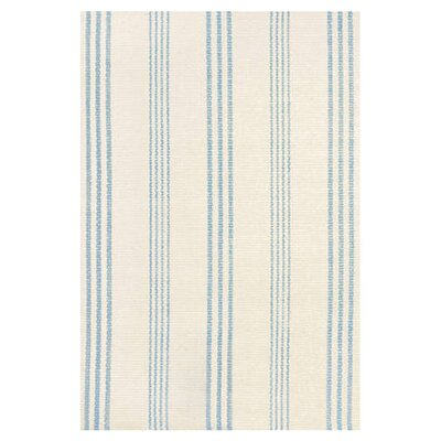 Dash and Albert Rugs Hand Woven Blue/Ivory Area Rug