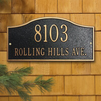 Whitehall Products Rolling Hills Address Plaque