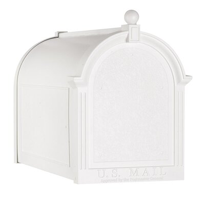 Slate Streetside Post Mounted Mailbox Finish: White