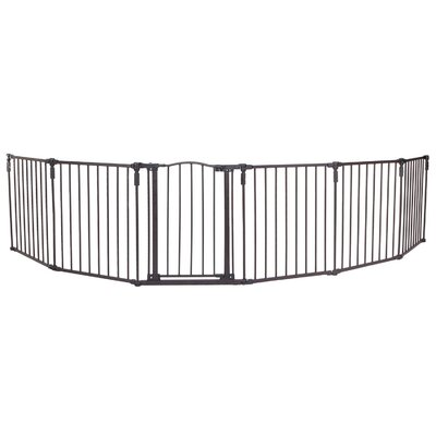 North States 3-in-1 Arched Dcor Metal Superyard 6-Panel Pet Gate