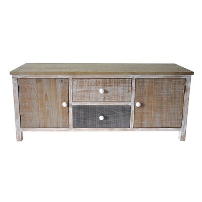 Wooden 2 Drawer and 2 Door Storage Compartment Accent Cabinet