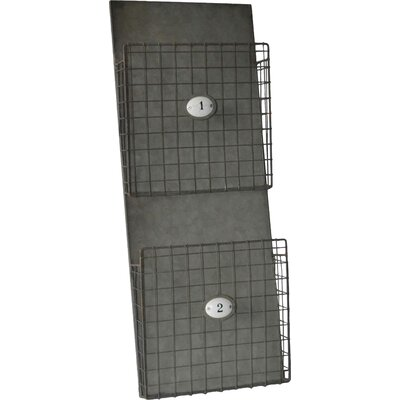 2 Tier Metal Wall Storage Magazine Rack