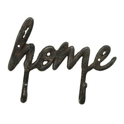 Philllip Cast Iron 'Home' Wall Hook