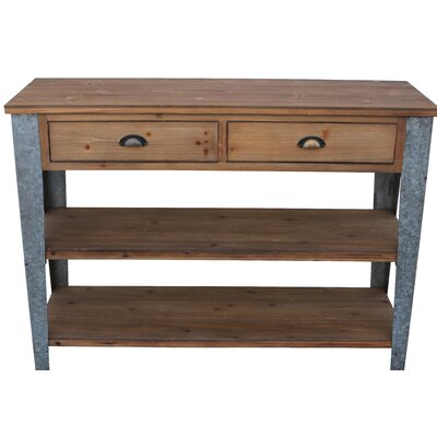 Prima Console Table with Galvanized Legs