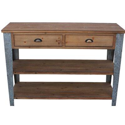 Prima Console Table with Galvanized Legs