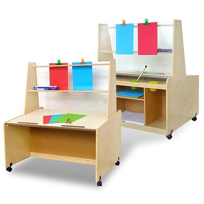 A+ Child Supply Marker Tray Double Sided Flipchart Easel