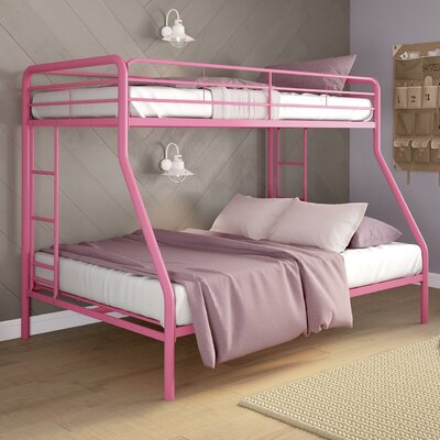 Jeanna Twin Over Full Bunk Bed Color: Pink