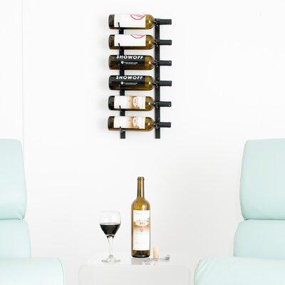 6 Bottle Metal Wall Mounted Wine Rack Finish: Satin Black
