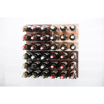 36 Bottle Traditional Wall Mounted Wine Rack