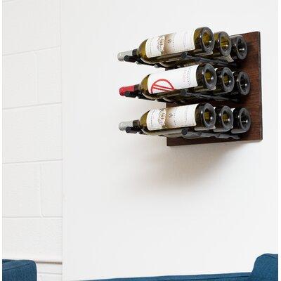 6 Bottle Wood Wall Mounted Wine Rack Finish: Anodized Black Rod