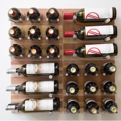 30 Bottle Wall Mounted Wine Rack