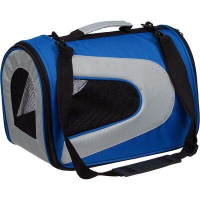 "Holgate Zippered Sporty Mesh Pet Carrier Size: Medium (10.5"" H x 8.5"" W x 13"" L), Color: Blue"