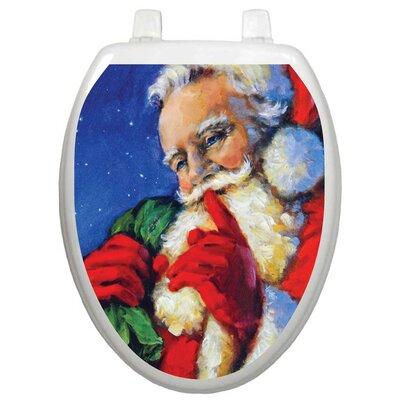 Toilet Tattoos Holiday Secret Santa Toilet Seat Decal