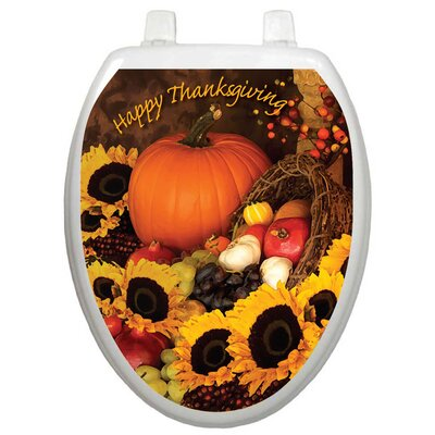 Toilet Tattoos Holiday Bountiful Harvest Toilet Seat Decal