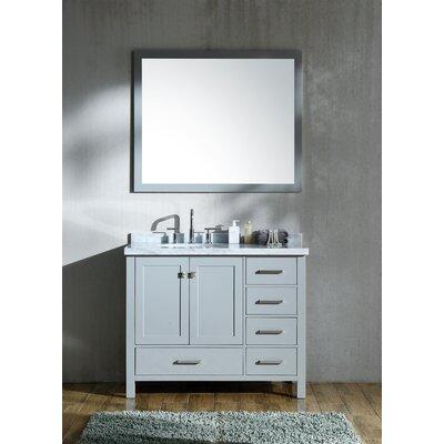"Marine 43"" Wood Single Bathroom Vanity Set Base Finish: Gray"