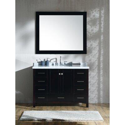 "Marine 49"" Single Rectangle Bathroom Vanity with Mirror Base Finish: Espresso"