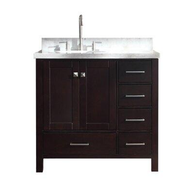 "Utley Modern 37"" Single Bathroom Vanity Set Base Finish: Espresso"