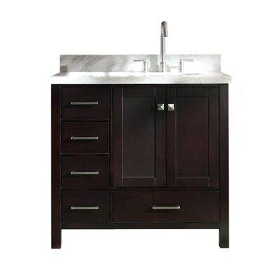 "Utley 37"" Single Bathroom Vanity Set Base Finish: Espresso"