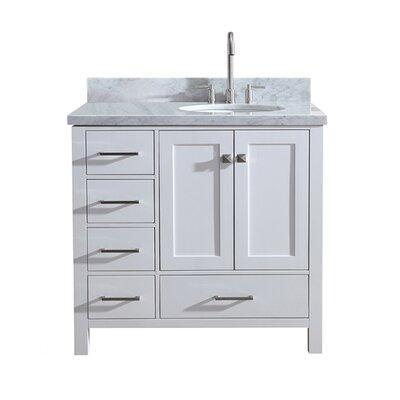 """Utley 37"""" Single Bathroom Vanity Set Base Finish: White"""
