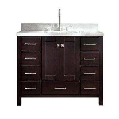 "Utley Modern 43"" Single Bathroom Vanity Set Base Finish: Espresso"