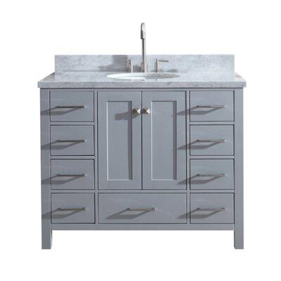 "Utley Modern 43"" Single Bathroom Vanity Set Base Finish: Gray"
