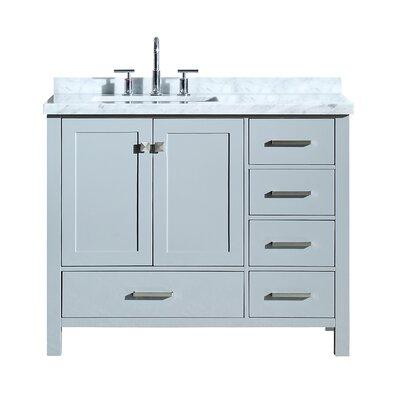 """Utley 43"""" Wood Base Single Bathroom Vanity Set Base Finish: Gray"""