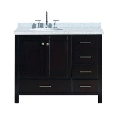 "Utley Modern 43"" Rectangular Single Bathroom Vanity Set Base Finish: Espresso"