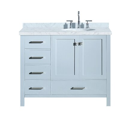 "Utley 43"" Single Bathroom Vanity Set Base Finish: Gray"